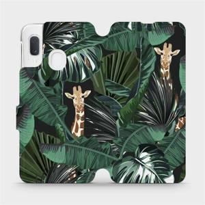 Flip pouzdro Mobiwear na mobil Samsung Galaxy A20e - VP06P Žirafky