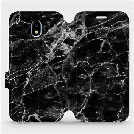 Flipové pouzdro Mobiwear na mobil Samsung Galaxy J3 2017 - V056P Černý mramor
