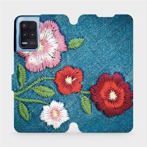 Flip pouzdro Mobiwear na mobil Realme 8 5G - MD05P Džínové květy