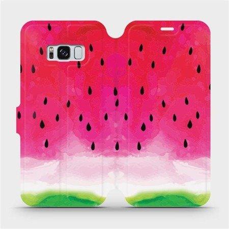 Flipové pouzdro Mobiwear na mobil Samsung Galaxy S8 - V086S Melounek