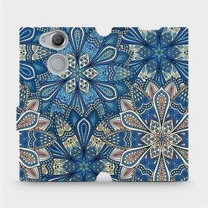 Flipové pouzdro Mobiwear na mobil Sony Xperia XA2 - V108P Modré mandala květy