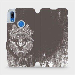 Flipové pouzdro Mobiwear na mobil Huawei P Smart Z - V064P Vlk a lapač snů
