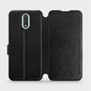 Flipové pouzdro Mobiwear na mobil Nokia 2.3 v provedení C_BLS Black&Gray s šedým vnitřkem