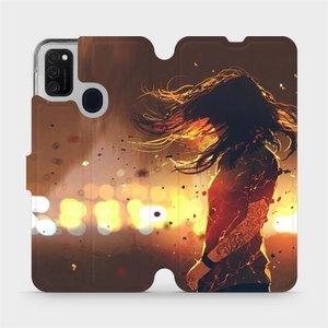 Flipové pouzdro Mobiwear na mobil Samsung Galaxy M21 - MA02S Tetovaná dívka