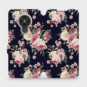 Flipové pouzdro Mobiwear na mobil Nokia 5.3 - V068P Růžičky