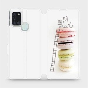 Flipové pouzdro Mobiwear na mobil Samsung Galaxy A21S - M090P Makronky - have a nice day