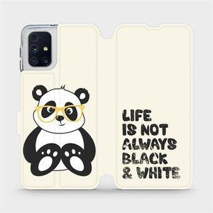 Flipové pouzdro Mobiwear na mobil Samsung Galaxy M31s - M041S Panda - life is not always black and white