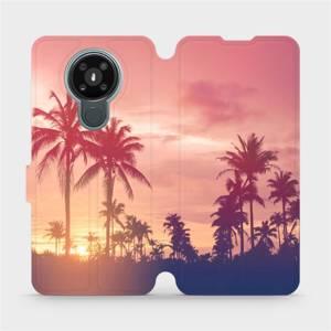 Flipové pouzdro Mobiwear na mobil Nokia 3.4 - M134P Palmy a růžová obloha