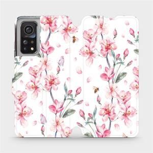 Flipové pouzdro Mobiwear na mobil Xiaomi MI 10T Pro - M124S Růžové květy