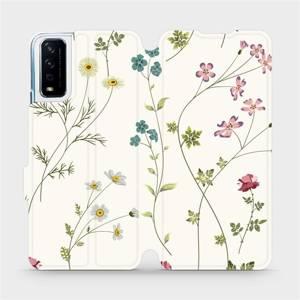Flipové pouzdro Mobiwear na mobil Vivo Y11S - MD03S Tenké rostlinky s květy