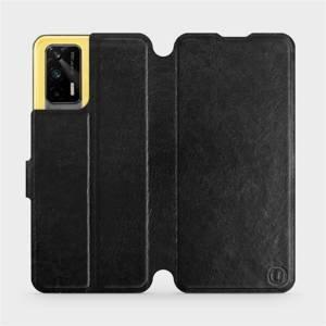 Flipové pouzdro Mobiwear na mobil Realme GT 5G v provedení C_BLS Black&Gray s šedým vnitřkem