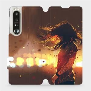 Flip pouzdro Mobiwear na mobil Sony Xperia 1 III - MA02S Tetovaná dívka