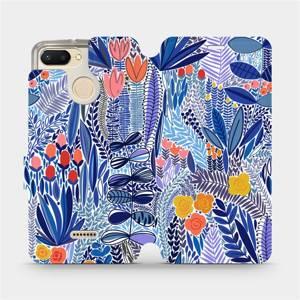 Flip pouzdro Mobiwear na mobil Xiaomi Redmi 6 - MP03P Modrá květena