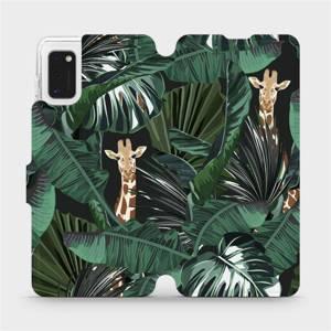 Flip pouzdro Mobiwear na mobil Samsung Galaxy A41 - VP06P Žirafky