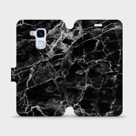 Flipové pouzdro Mobiwear na mobil Honor 7 Lite - V056P Černý mramor