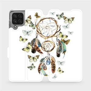 Flip pouzdro Mobiwear na mobil Samsung Galaxy M22 - M001P Lapač a motýlci