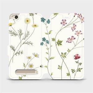 Flipové pouzdro Mobiwear na mobil Xiaomi Redmi 4A - MD03S Tenké rostlinky s květy