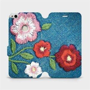 Flipové pouzdro Mobiwear na mobil Huawei P9 Lite 2017 - MD05P Džínové květy