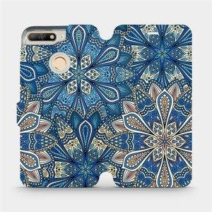 Flipové pouzdro Mobiwear na mobil Huawei Y6 Prime 2018 - V108P Modré mandala květy