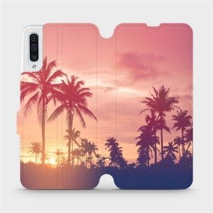 Flipové pouzdro Mobiwear na mobil Samsung Galaxy A50 - M134P Palmy a růžová obloha