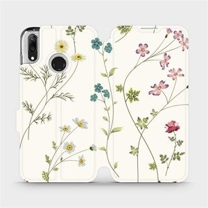 Flipové pouzdro Mobiwear na mobil Huawei Y7 2019 - MD03S Tenké rostlinky s květy