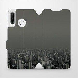 Flipové pouzdro Mobiwear na mobil Huawei P30 Lite - V063P Město v šedém hávu
