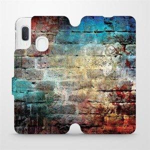 Flipové pouzdro Mobiwear na mobil Samsung Galaxy A20e - V061P Zeď