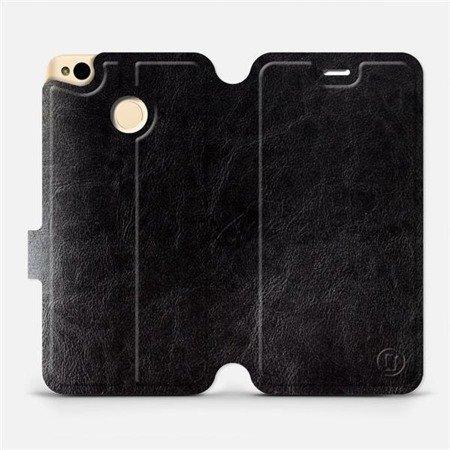Parádní flip pouzdro Mobiwear na mobil Xiaomi Redmi 4X v provedení C_BLS Black&Gray s šedým vnitřkem