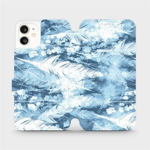 Flipové pouzdro Mobiwear na mobil Apple iPhone 11 - M058S Světle modrá horizontální pírka