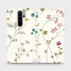 Flipové pouzdro Mobiwear na mobil Xiaomi Redmi Note 8 Pro - MD03S Tenké rostlinky s květy