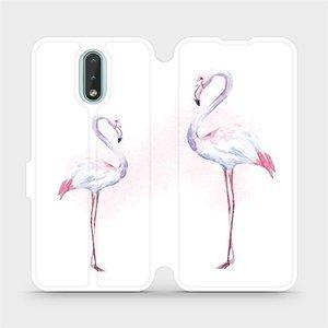 Flipové pouzdro Mobiwear na mobil Nokia 2.3 - M005S Plameňáci