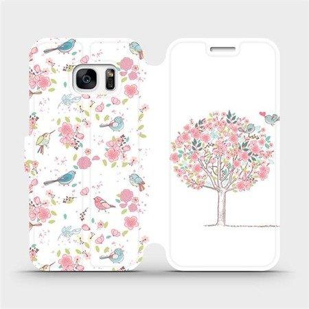 Flipové pouzdro Mobiwear na mobil Samsung Galaxy S7 - M120S Strom a ptáčci