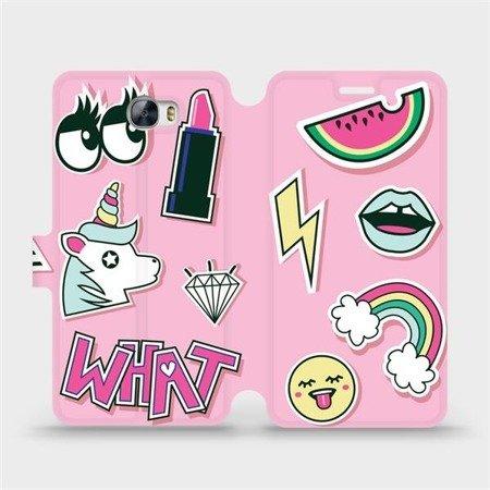 Flipové pouzdro Mobiwear na mobil Huawei Y6 II Compact - M129S Růžové WHAT