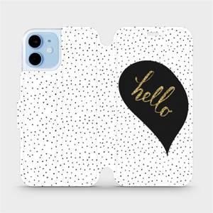 Flipové pouzdro Mobiwear na mobil Apple iPhone 12 mini - M013P Golden hello
