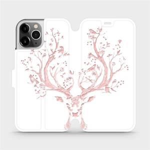 Flipové pouzdro Mobiwear na mobil Apple iPhone 12 Pro - M007S Růžový jelínek