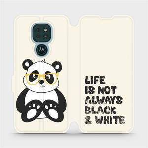 Flipové pouzdro Mobiwear na mobil Motorola Moto G9 Play - M041S Panda - life is not always black and white