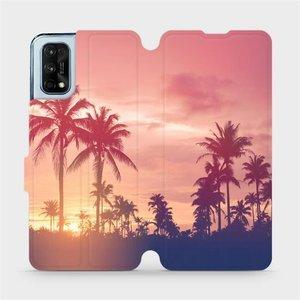 Flipové pouzdro Mobiwear na mobil Realme 7 Pro - M134P Palmy a růžová obloha