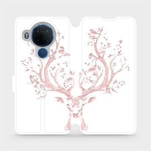 Flipové pouzdro Mobiwear na mobil Nokia 5.4 - M007S Růžový jelínek