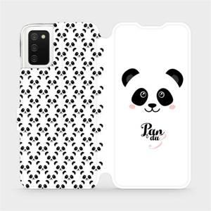 Flipové pouzdro Mobiwear na mobil Samsung Galaxy A02s - M030P Panda Amálka