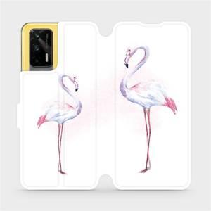 Flipové pouzdro Mobiwear na mobil Realme GT 5G - M005S Plameňáci