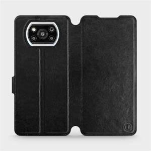 Flipové pouzdro Mobiwear na mobil Xiaomi Poco X3 Pro v provedení C_BLS Black&Gray s šedým vnitřkem