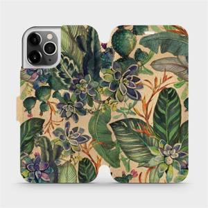 Flip pouzdro Mobiwear na mobil Apple iPhone 12 Pro - VP05S Sukulenty
