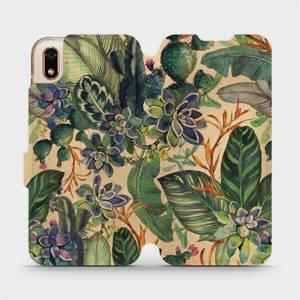 Flip pouzdro Mobiwear na mobil Huawei Y5 2019 / Honor 8S - VP05S Sukulenty