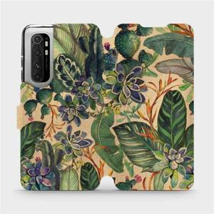 Flip pouzdro Mobiwear na mobil Xiaomi Mi Note 10 Lite - VP05S Sukulenty