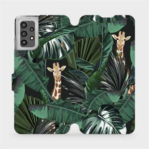 Flip pouzdro Mobiwear na mobil Samsung Galaxy A32 LTE - VP06P Žirafky
