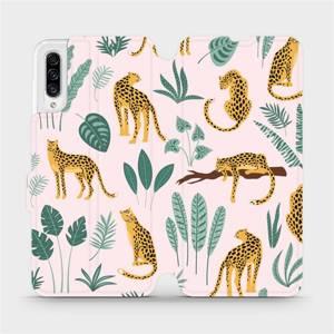 Flip pouzdro Mobiwear na mobil Samsung Galaxy A30s - MP07S Leopardi