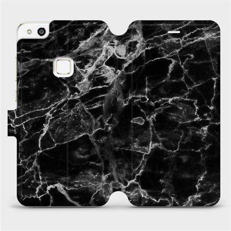 Flipové pouzdro Mobiwear na mobil Huawei P10 Lite - V056P Černý mramor