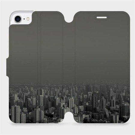 Flipové pouzdro Mobiwear na mobil Apple iPhone 7 - V063P Město v šedém hávu