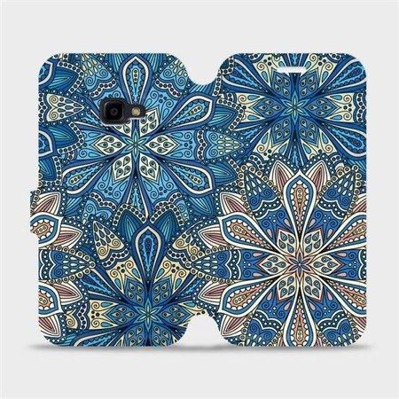 Flipové pouzdro Mobiwear na mobil Samsung Xcover 4 - V108P Modré mandala květy