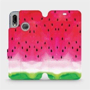 Flipové pouzdro Mobiwear na mobil Huawei P20 Lite - V086S Melounek